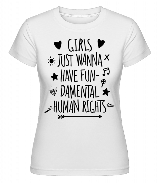 Damental Human Rights -  Shirtinator Women's T-Shirt - White - Vorn
