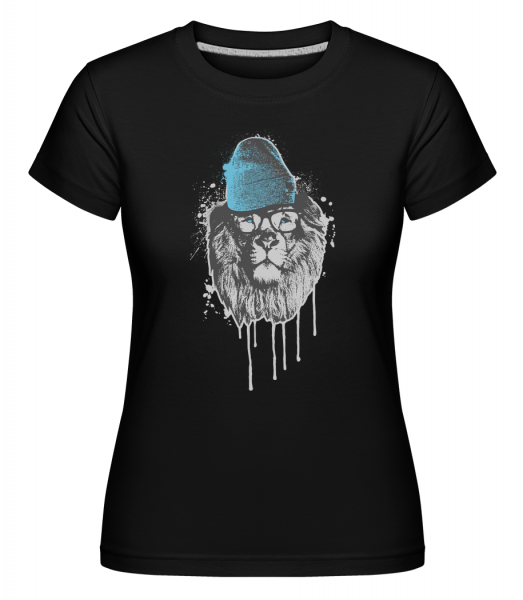 Lion with Head -  Shirtinator Women's T-Shirt - Black - Vorn