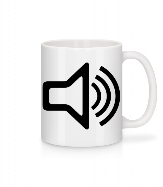 Speaker icon - Mug - White - Vorn