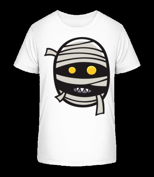 Cartoon Mummy - Kid's Premium Bio T-Shirt - White - Vorn