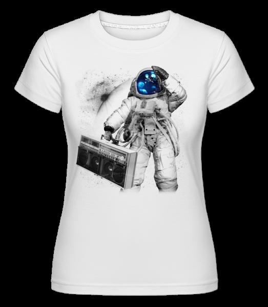 Ghettoblaster Astronaut -  Shirtinator Women's T-Shirt - White - Vorn