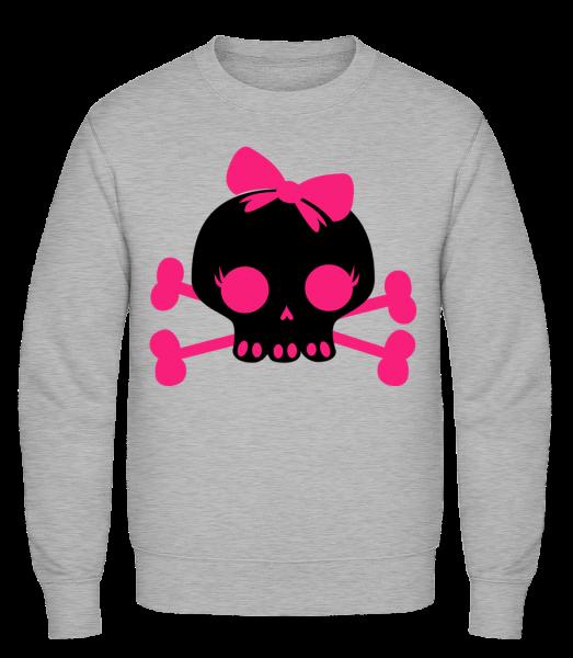 Emo Skull Pink - Classic Set-In Sweatshirt - Heather Grey - Vorn