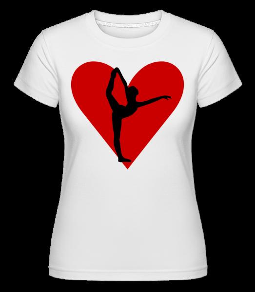 Yoga Heart - Shirtinator Women's T-Shirt - White - Vorn