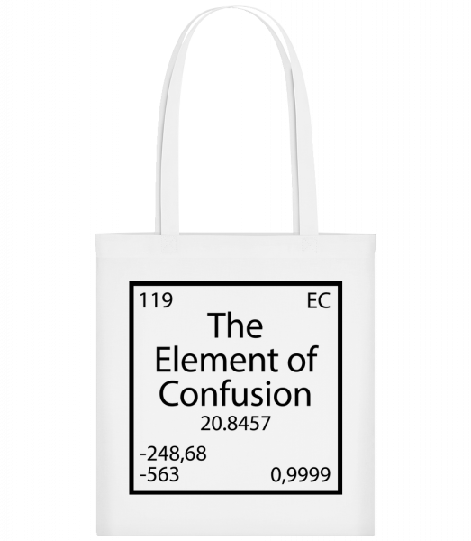 The Element Of Confusion - Carrier Bag - White - Vorn