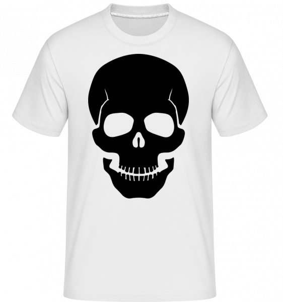 Skull Black - Shirtinator Men's T-Shirt - White - Vorn