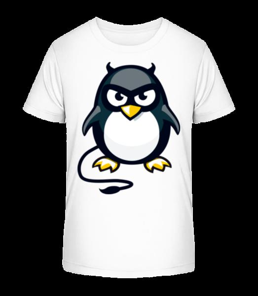 Devil Penguin - Kid's Premium Bio T-Shirt - White - Vorn