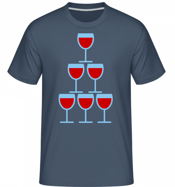 Wine Glasses Icon -  Shirtinator Men's T-Shirt - Denim - Vorn