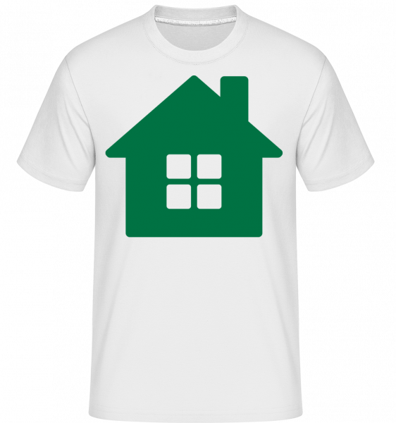 House Icon Green -  Shirtinator Men's T-Shirt - White - Vorn