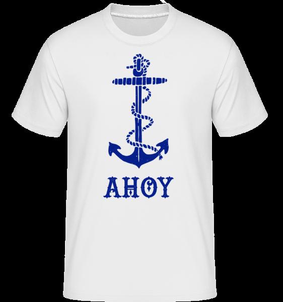 Ahoy Anchor - Shirtinator Men's T-Shirt - White - Vorn