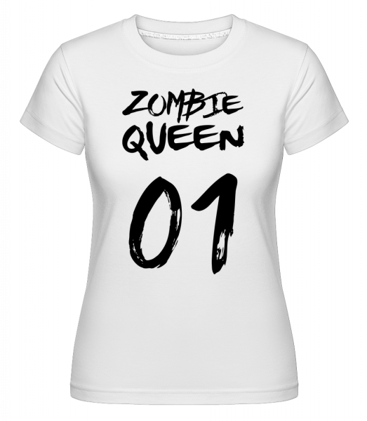 Zombie Queen -  Shirtinator Women's T-Shirt - White - Vorn