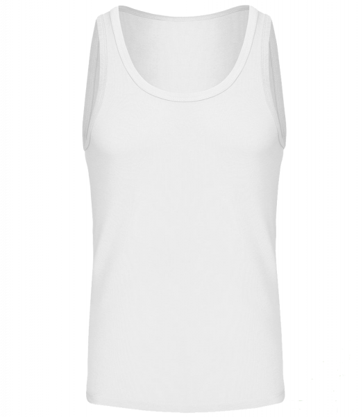 Men's Organic Tank Top - White - Vorn