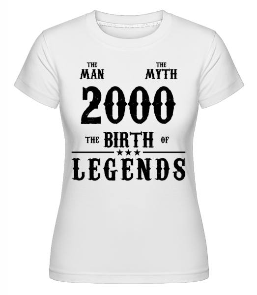 The Myth 2000 - Shirtinator Women's T-Shirt - White - Vorn