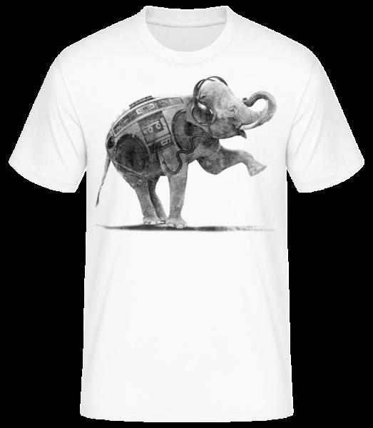 Ghettoblaster Elephant - Men's Basic T-Shirt - White - Vorn
