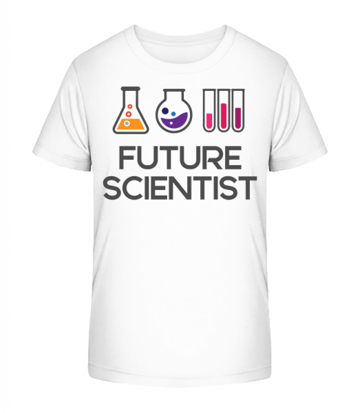 Future Scientist - Kid's Premium Bio T-Shirt - White - Vorn