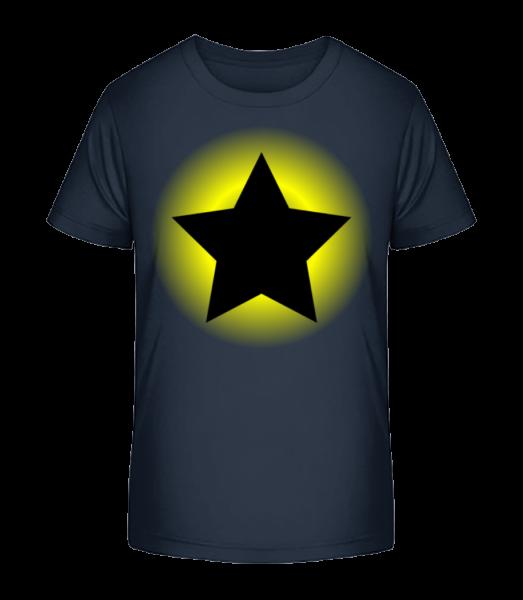 Shining Star - Kid's Premium Bio T-Shirt - Navy - Vorn