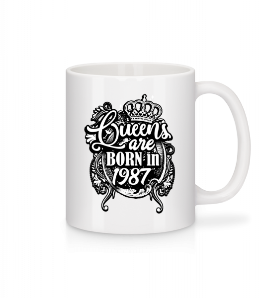 Queens Are Born In 1987 - Mug - White - Vorn