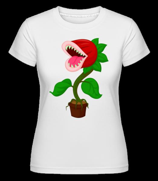 Monster Plant - Shirtinator Women's T-Shirt - White - Vorn