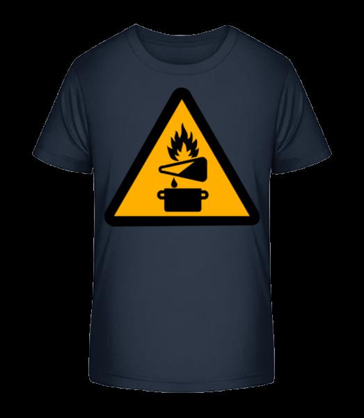 Attention Fire Hazard - Kid's Premium Bio T-Shirt - Navy - Vorn