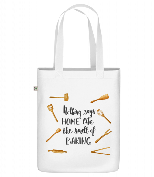 """The Smell Of Baking - Organic """"Earth Positive"""" tote bag - White - Vorn"""