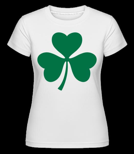 Ireland Cloverleaf -  Shirtinator Women's T-Shirt - White - Vorn
