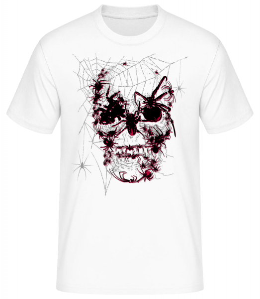 Spider Skull - Men's Basic T-Shirt - White - Vorn