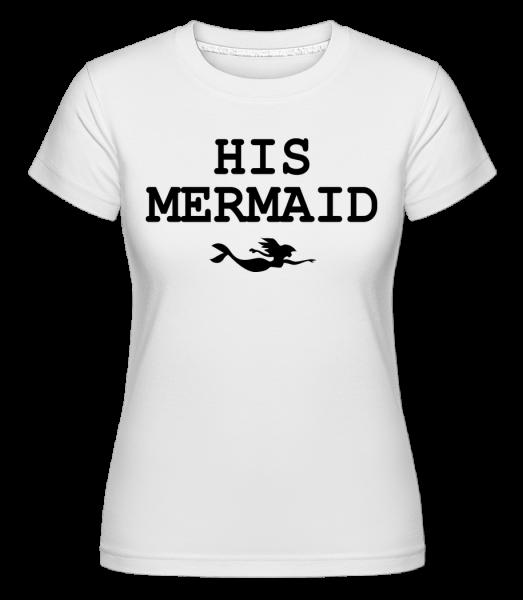 His Mermaid - Shirtinator Women's T-Shirt - White - Vorn