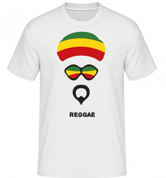 Reggae Face - Shirtinator Men's T-Shirt - White - Vorn