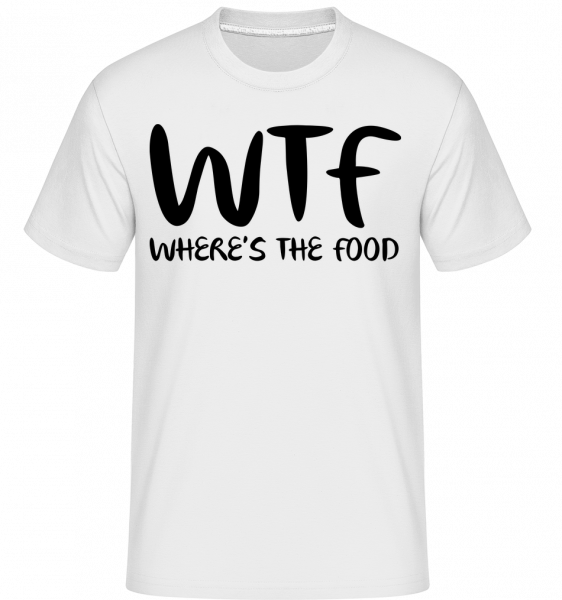 WTF Where's The Food -  Shirtinator Men's T-Shirt - White - Vorn