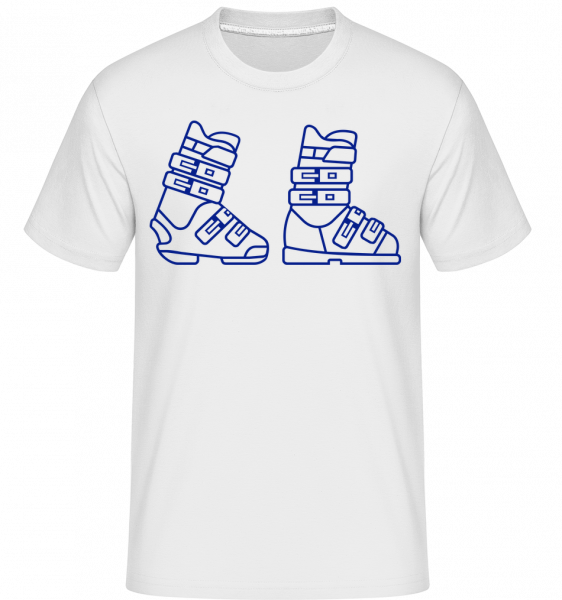 Skiing Boots Blue - Shirtinator Men's T-Shirt - White - Vorn