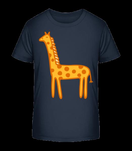 Kids Comic - Giraffe - Kid's Premium Bio T-Shirt - Navy - Vorn