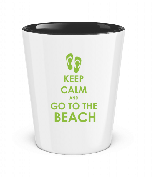 Go To The Beach - Two-Toned Shot Glass - White - Vorn