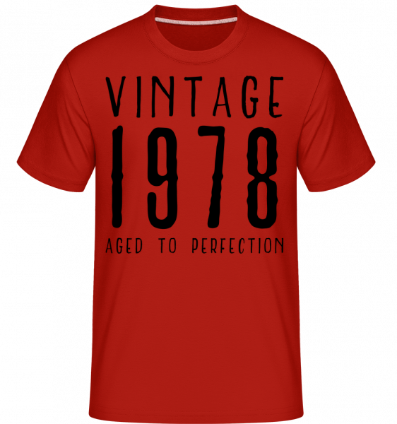 Vintage 1978 Aged To Perfection -  Shirtinator Men's T-Shirt - Red - Vorn
