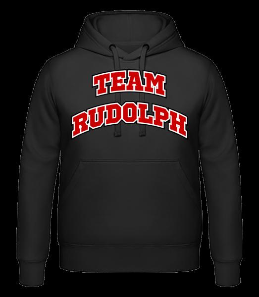 Team Rudolph - Men's hoodie - Black - Vorn