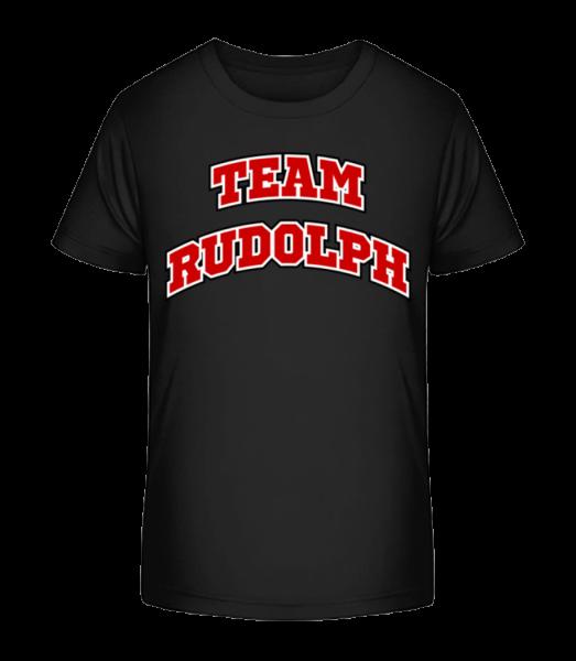 Team Rudolph - Kid's Premium Bio T-Shirt - Black - Vorn