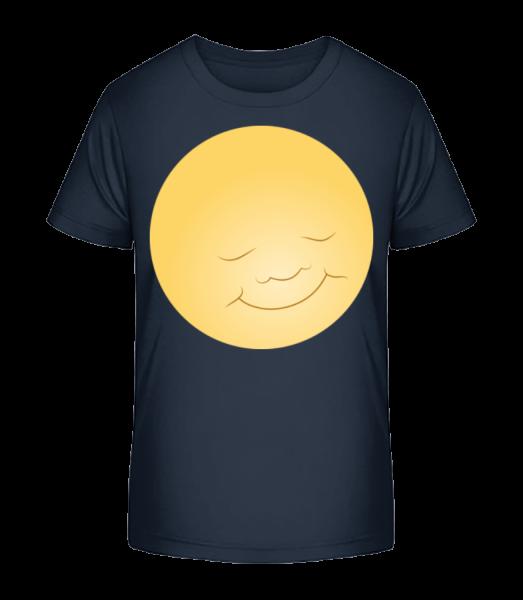 Kids Comic - Sun - Kid's Premium Bio T-Shirt - Navy - Vorn