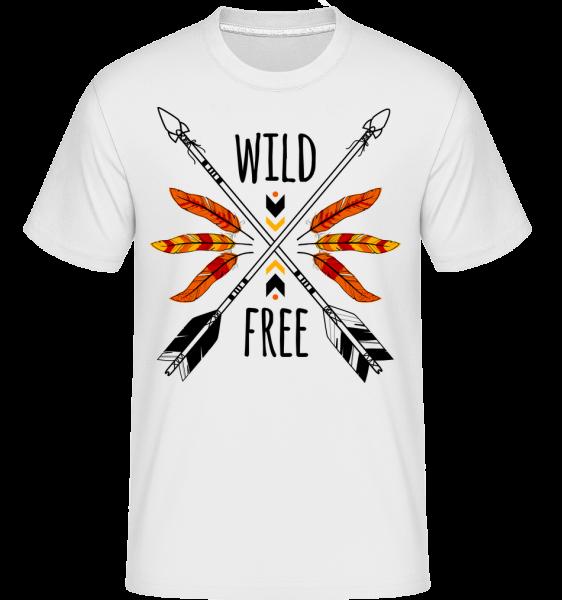 Wild And Free Logo -  Shirtinator Men's T-Shirt - White - Vorn