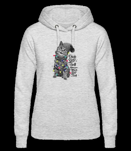 Cat Christmas - Women's hoodie - Heather grey - Vorn