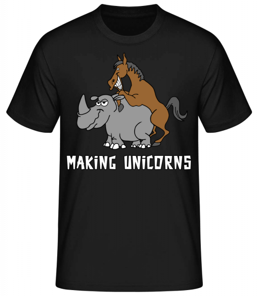 Making Unicorns - Men's Basic T-Shirt - Black - Vorn