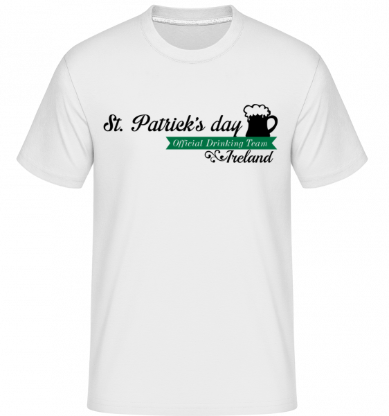 St. Patrick's Day Logo -  Shirtinator Men's T-Shirt - White - Vorn