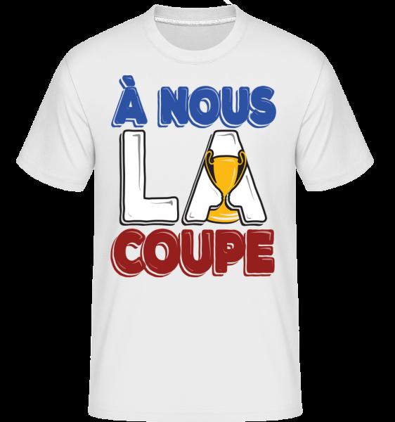 football_3_FR -  Shirtinator Men's T-Shirt - White - Vorn