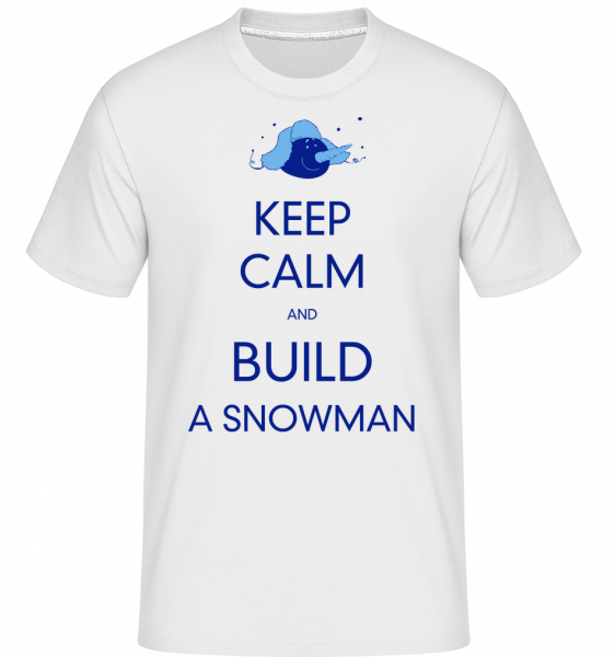 Build A Snowman Sign -  Shirtinator Men's T-Shirt - White - Vorn