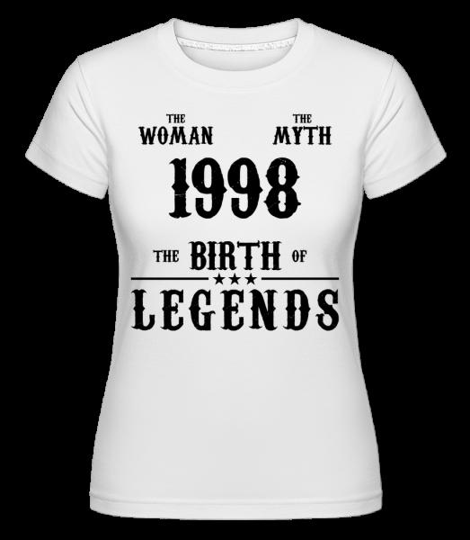 The Myth Woman 1998 -  Shirtinator Women's T-Shirt - White - Vorn