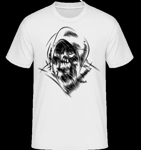 Gothic Skull -  Shirtinator Men's T-Shirt - White - Vorn