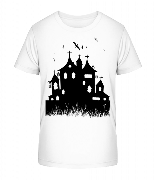 Halloween Castle - Kid's Premium Bio T-Shirt - White - Vorn