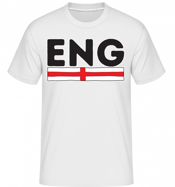 Football England -  Shirtinator Men's T-Shirt - White - Vorn