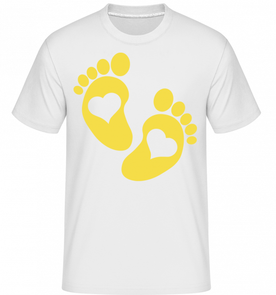 Baby Feet - Shirtinator Men's T-Shirt - White - Vorn