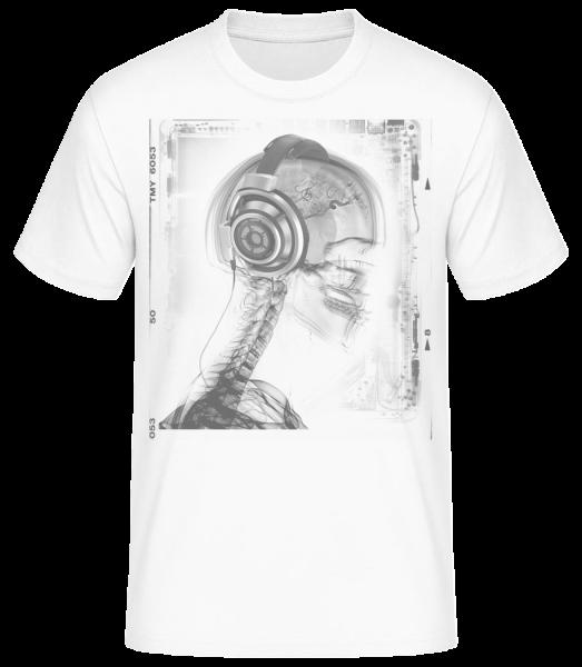 Skeleton Music - Men's Basic T-Shirt - White - Vorn