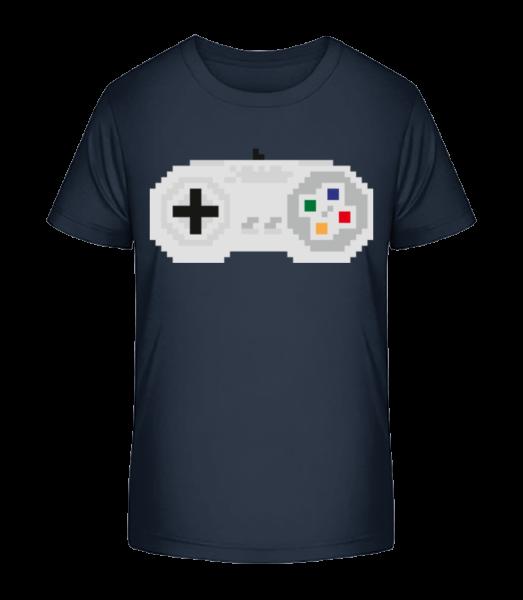 Consoles Controller Oldschool - Kid's Premium Bio T-Shirt - Navy - Vorn