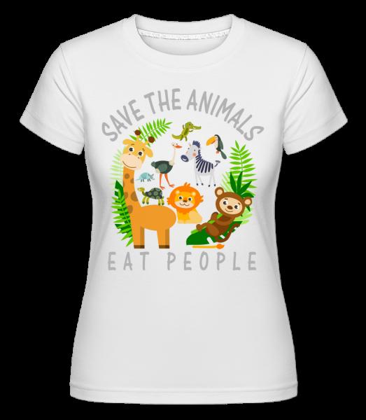 Save The Animals -  Shirtinator Women's T-Shirt - White - Vorn