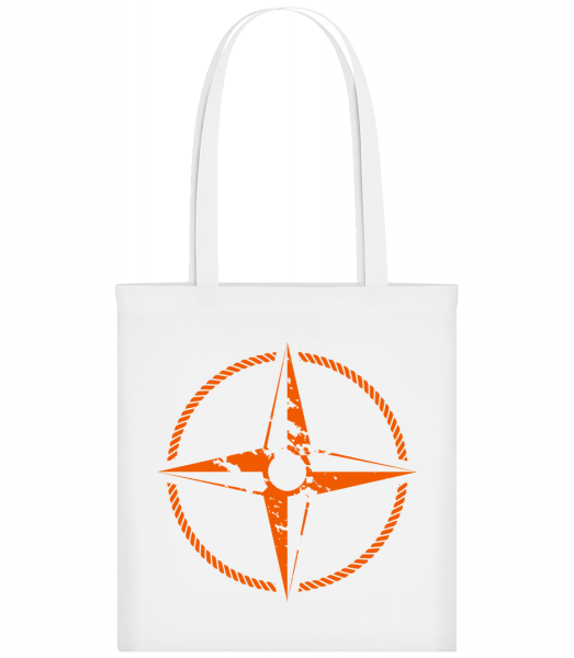 Compass Symbol - Carrier Bag - White - Vorn